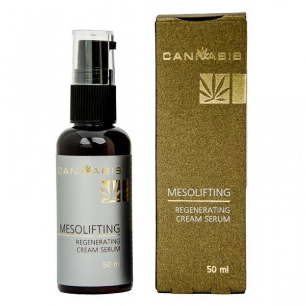 Крем-сыворотка конструктор контура лица с экстрактом каннабиса MESOLIFTING Regenerating cream serum 50 мл